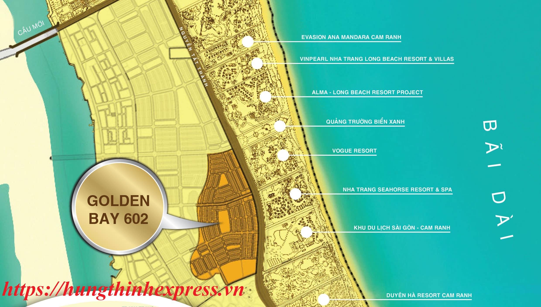 Vị trí đắc địa của dự án Golden Bay 602 Cam Ranh Nha Trang