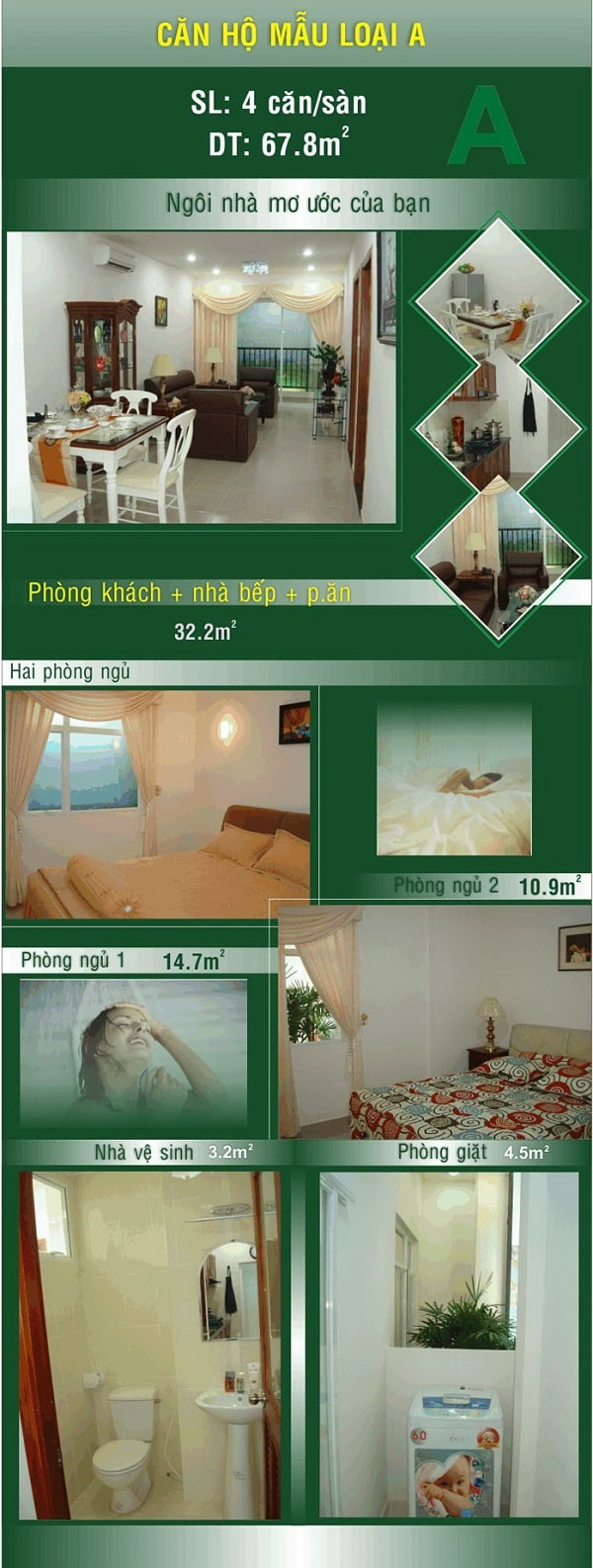 Thiết kế căn hộ mẫu A tại khu đô thị Đại Phú