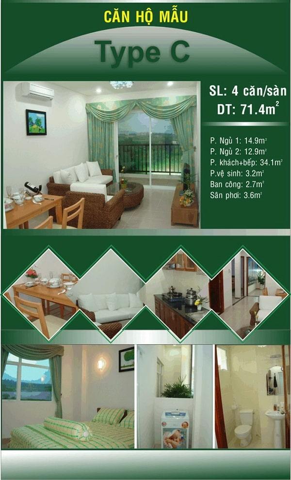 Thiết kế căn hộ mẫu C tại khu đô thị Đại Phú