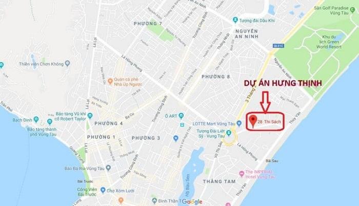 Vị trí dự án Thi Sách Apartment Vũng Tàu