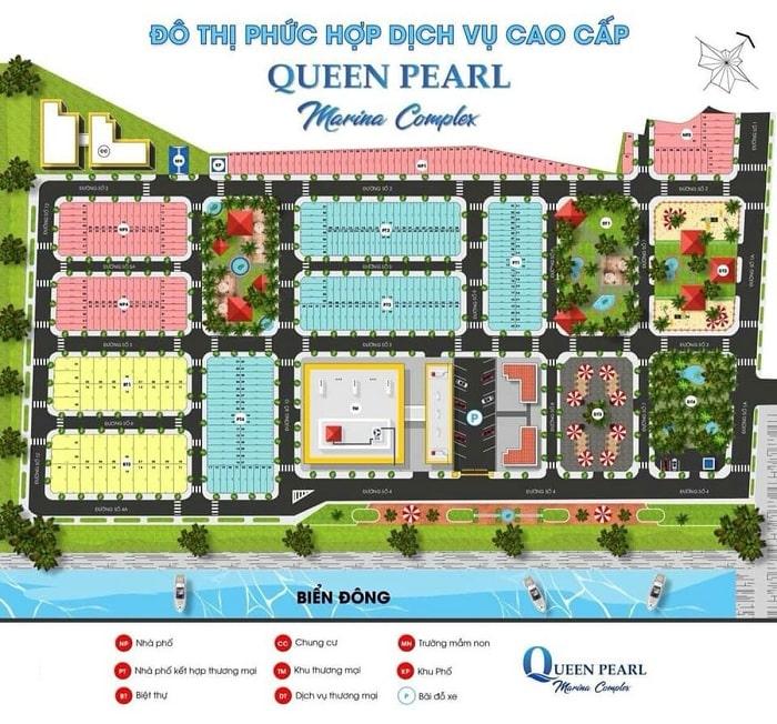 Mặt bằng khu đô thị QEEN PEARL MARIA COMPLEX tại Lagi, Bình Thuận