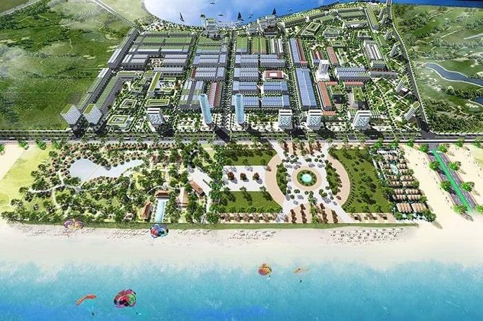 Phối cảnh dự án khu đô thị QEEN PEARL MARIA COMPLEX tại Lagi, Bình Thuận