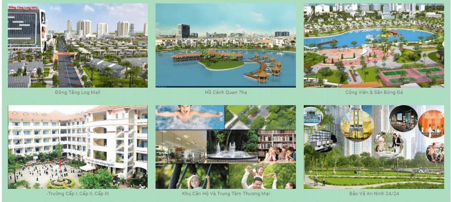 Tiện ích có tại khu đô thị Đông Tăng Long