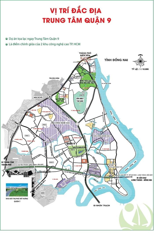 Vị trí khu đô thị Đông Tăng Long