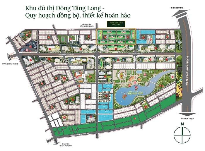 Mặt bằng khu đô thị Đông Tăng Long