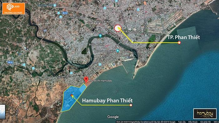 Vị trí dự án khu du lịch nghỉ dưỡng Hamubay Phan Thiết