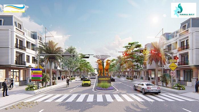 Khu nhà phố thương mại tại dự án Hamubay Phan Thiết