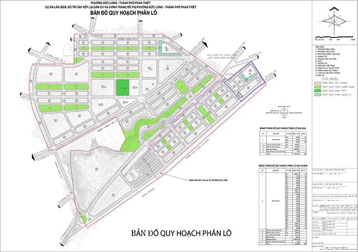 Bản đồ quy hoạch phân lô dự án Hamubay Phan Thiết