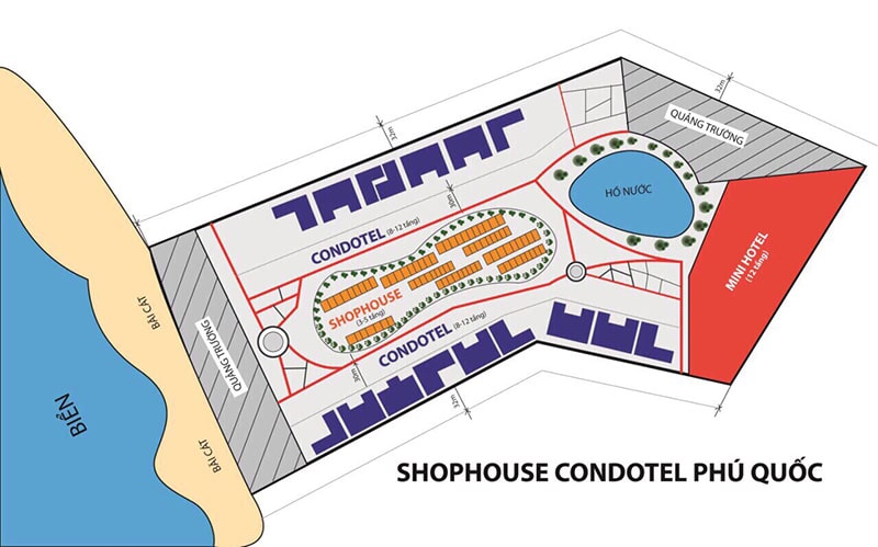 Mặt bằng khu Shophouse Grand World Phú Quốc