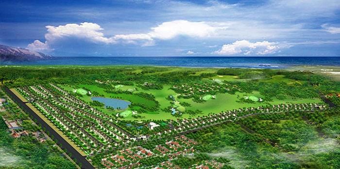 Toàn cảnh khu biệt thự nghỉ dưỡng Diamond Bay Phan Thiết