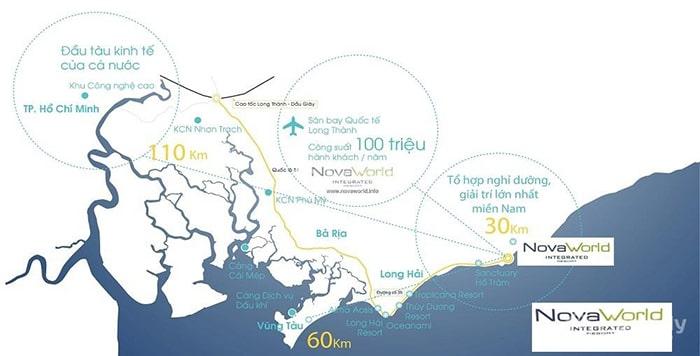 Vị trí dự án khu nghỉ dưỡng NovaWorld Phan Thiết