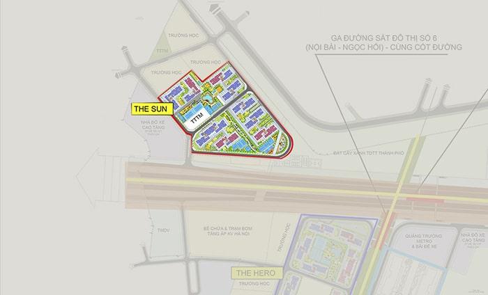 Mặt bằng phân khu Sun dự án Vinhomes Smart City