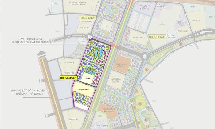 Mặt bằng phân khu Victory dự án Vinhomes Smart City