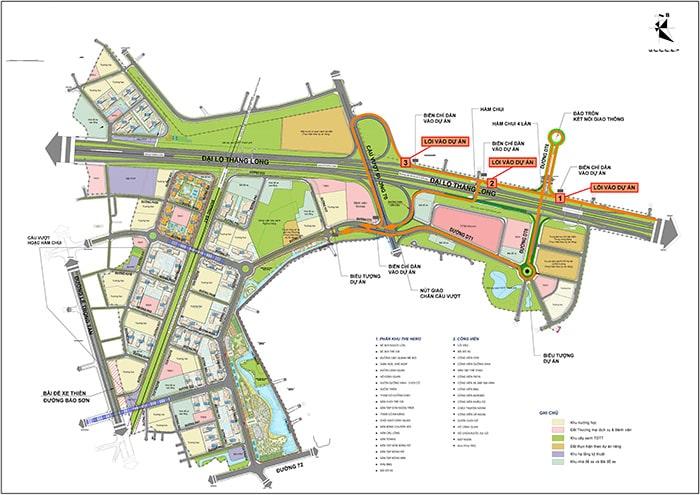 Mặt bằng dự án Vinhomes Smart City Đại Mỗ Tây Mỗ