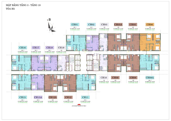 Mặt bằng tòa H5 phân khu Hero dự án Vinhomes Smart City
