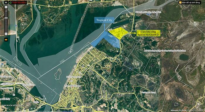Vị trí dự án FLC Tropical City Hà Khánh