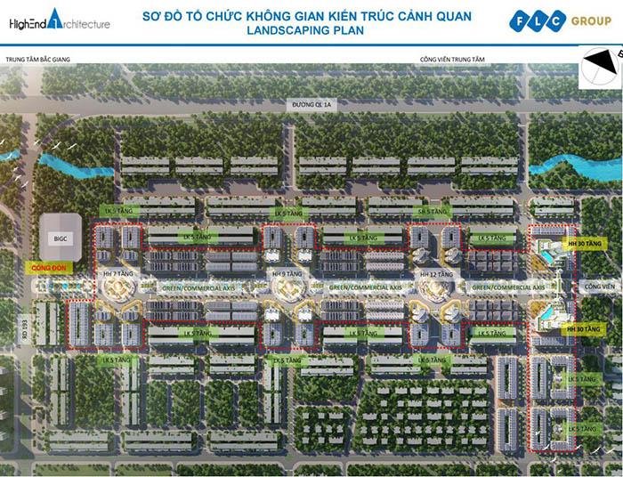 Mặt bằng dự án FLC Bắc Giang