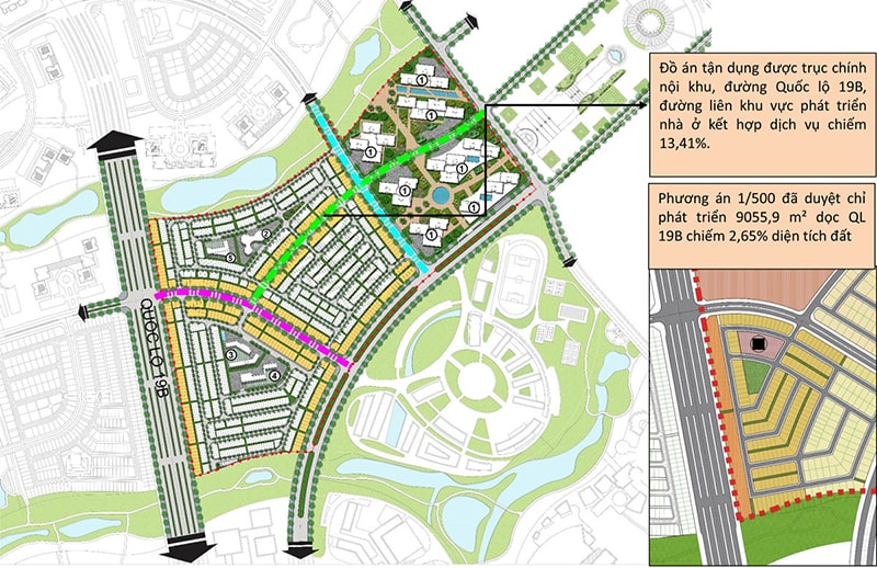 Mặt bằng chi tiết dự án khu đô thị sinh thái Nhơn Hội
