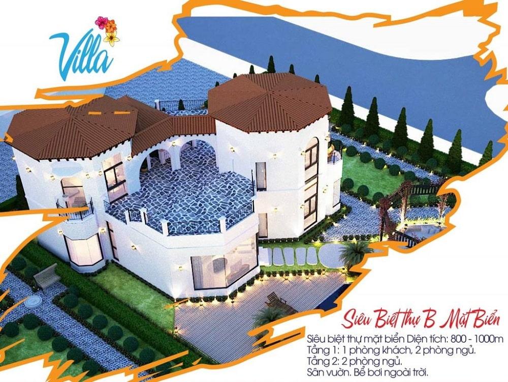 Nhà mẫu biệt thự 800 - 1000m2 dự án The Pearl Cam Ranh