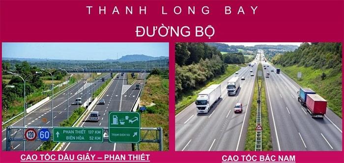 Cơ sở hạ tầng đường bộ tại Thanh Long Bay
