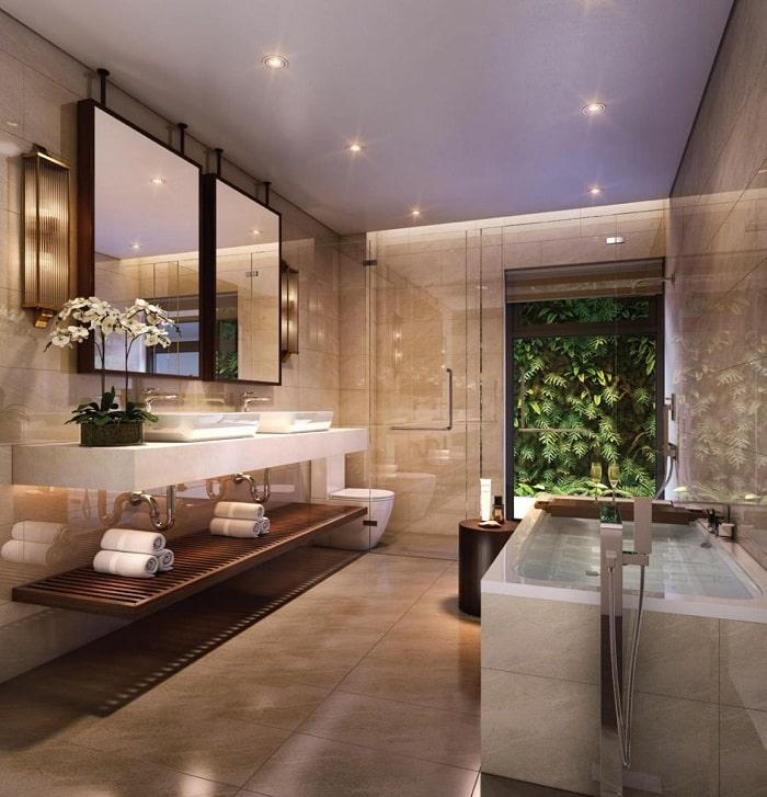 Phòng tắm căn hộ tại KN Paradise Nha Trang