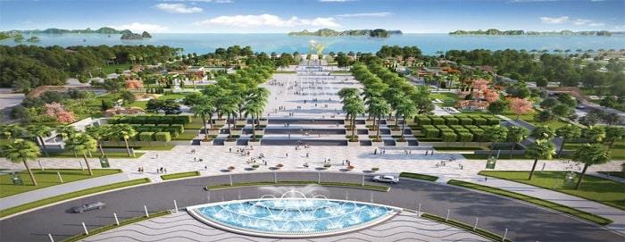 Quảng trường biển tại Thăng Long Bay
