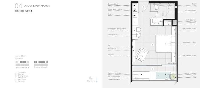 Thiết kế Căn hộ 1 Phòng Ngủ Thang Long Bay