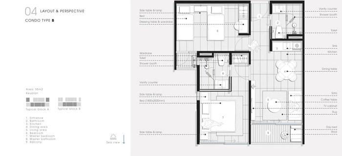 Thiết kế Căn hộ 2 Phòng Ngủ Thang Long Bay