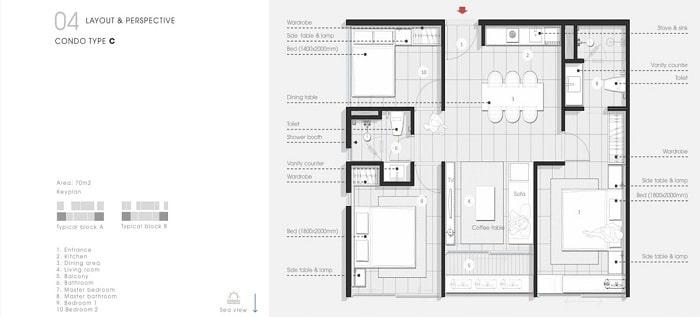 Thiết kế Căn hộ 3 Phòng Ngủ Thang Long Bay