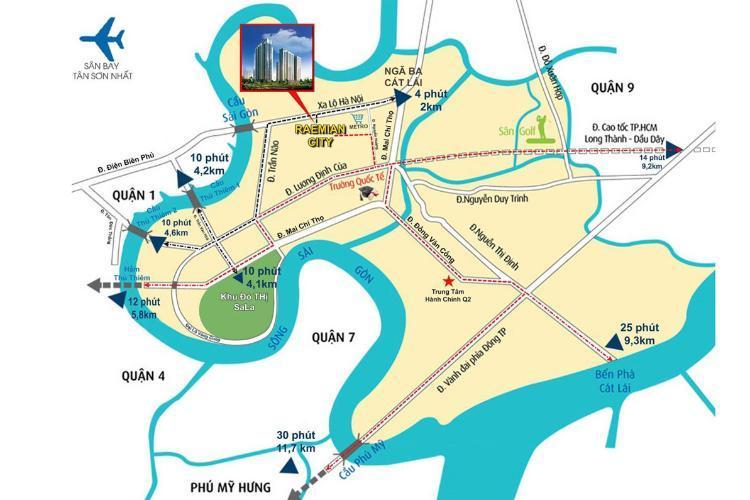 Các tuyến đường giao thông tại dự án Laimian City quận 2