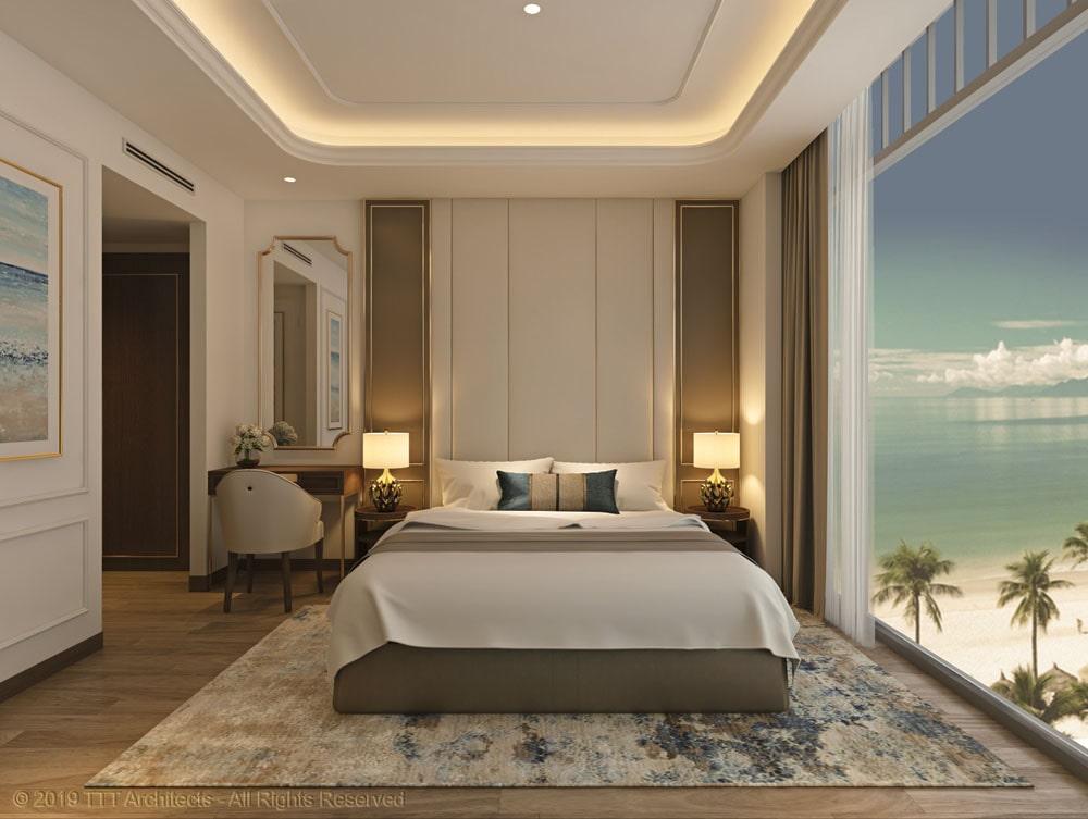 Mẫu phòng ngủ khác tại nhà mẫu Condotel The Sóng
