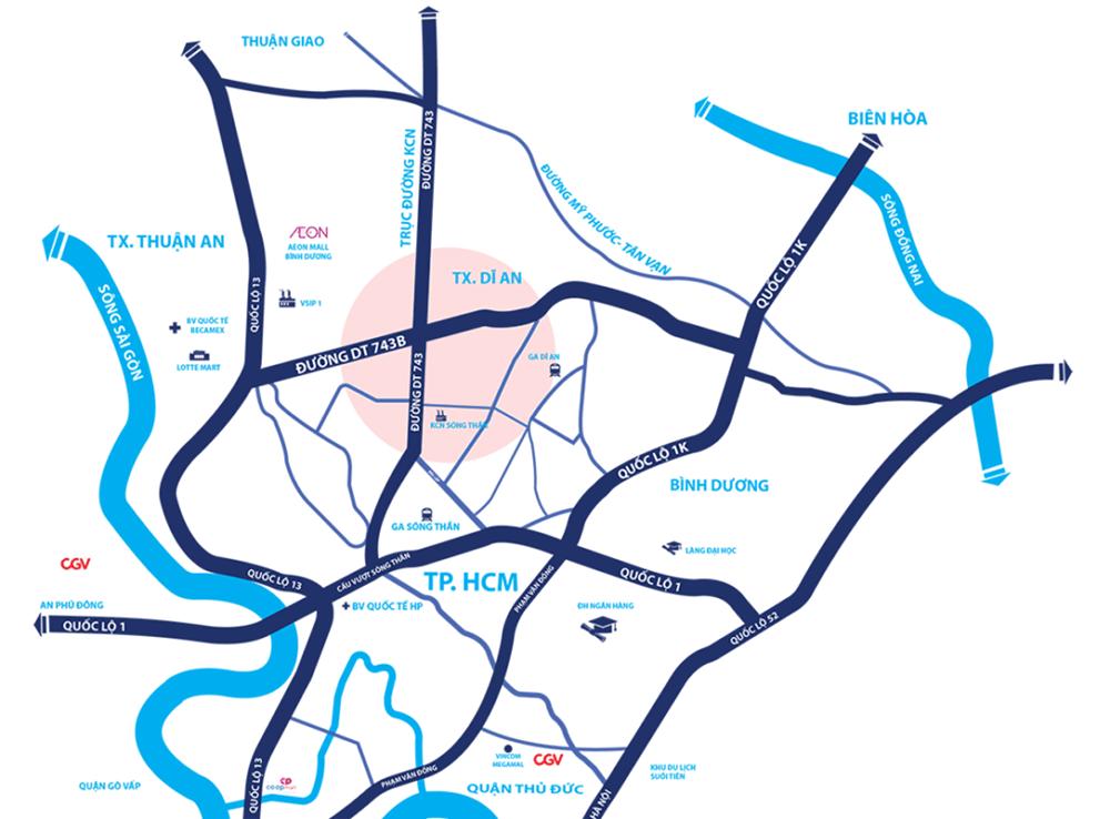 Vị trí dự án khu nhà ở thương mại Phú Vinh – Phú Gia Icon Central
