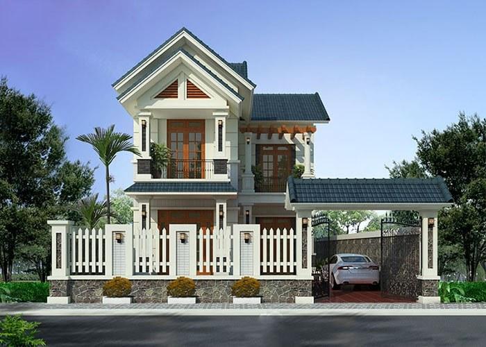 Điểm cần chú ý khi thiết kế biệt thự 2 tầng mái Thái