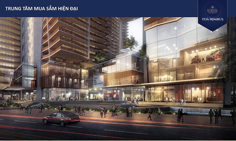 Trung tâm mua sắm tại dự án Wyndham Soleil Đà Nẵng