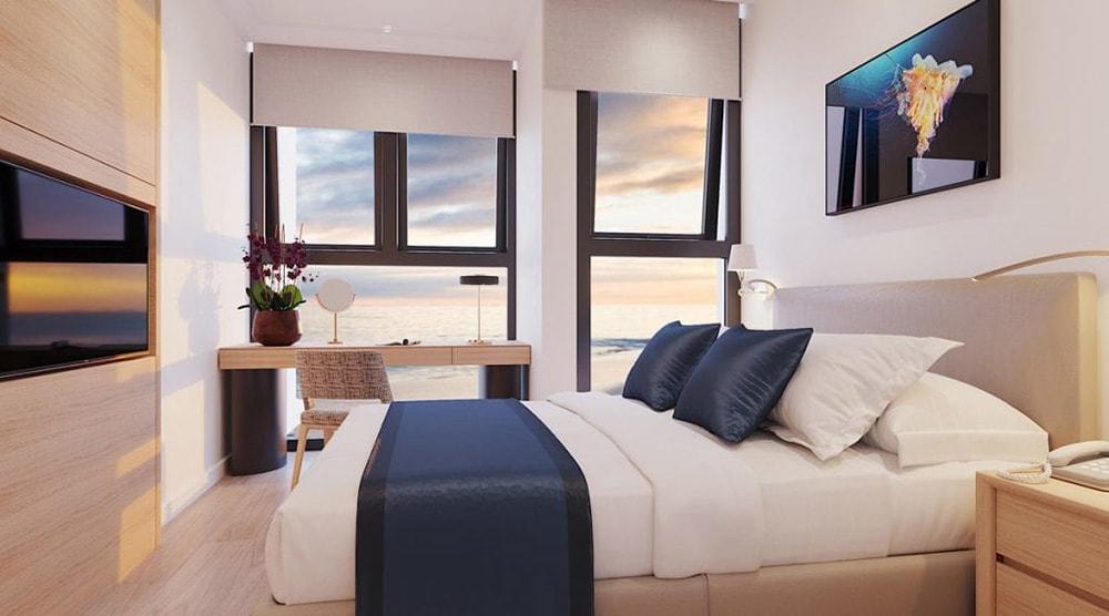 Nội thất phòng ngủ căn hộ tại dự án Sailling Bay Ninh Chữ