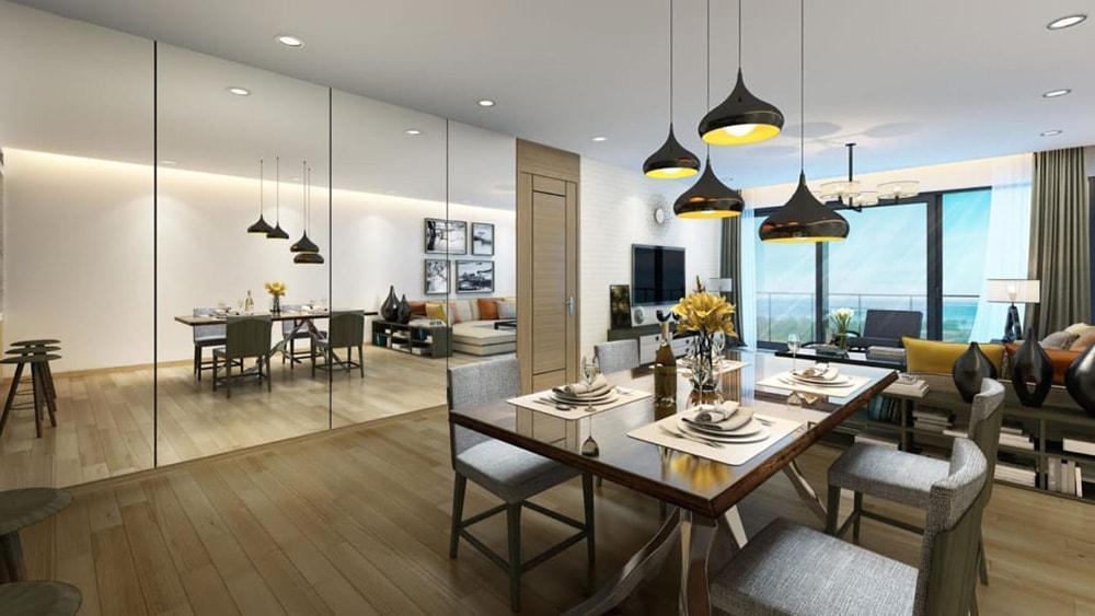 Nội thất phòng ăn căn hộ tại dự án Sailling Bay Ninh Chữ