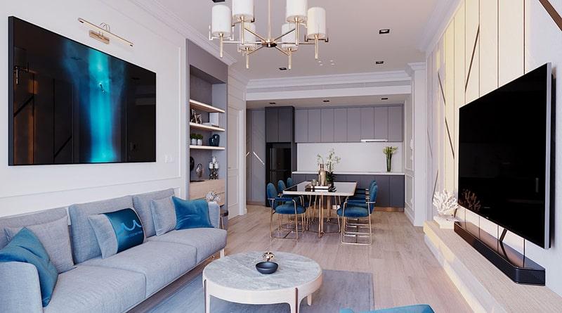 Phòng khách căn hộ tại dự án Sunbay Park