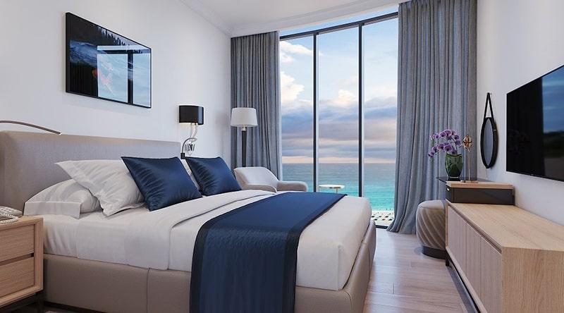Phòng ngủ tại căn hộ tại dự án Sunbay Park