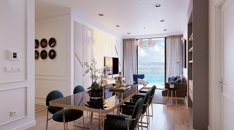 Phòng ăn tại căn hộ tại dự án Sunbay Park