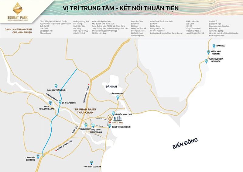 Vị trí dự án SunBay Park Hotel & Resort Phan Rang
