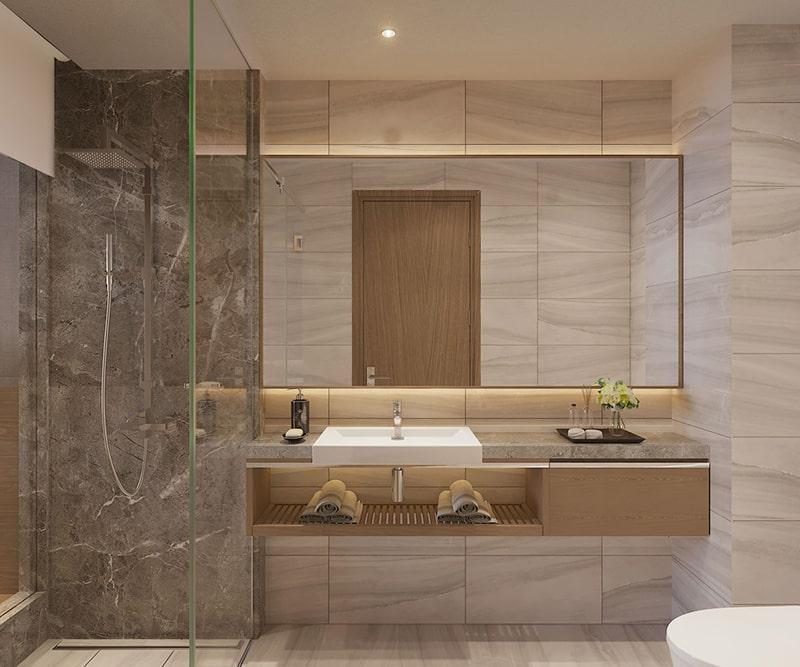 Phòng tắm tại căn hộ dự án Sunbay Park