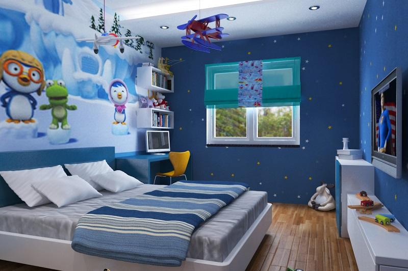 Bài trí phòng ngủ mệnh Thủy