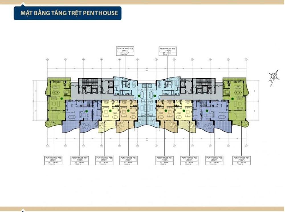 Mặt bằng tầng trệt penthouse Condotel Aria Vũng Tàu