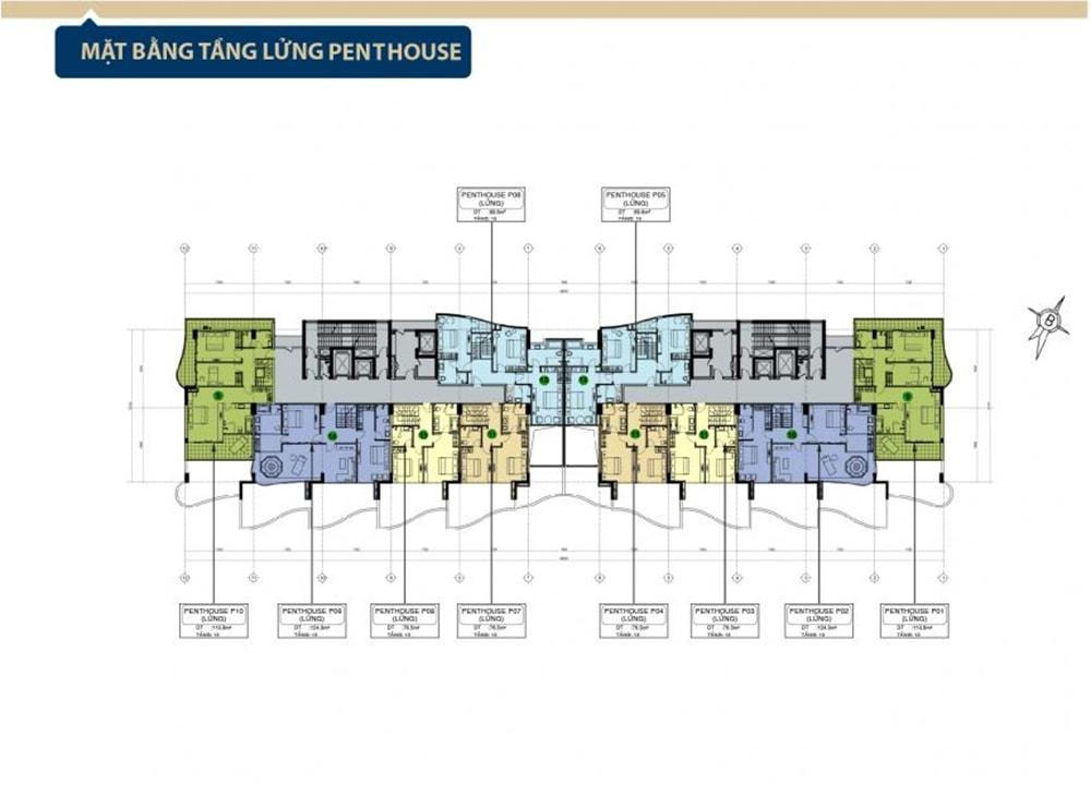 Mặt bằng tầng lửng penthouse Condotel Aria Vũng Tàu