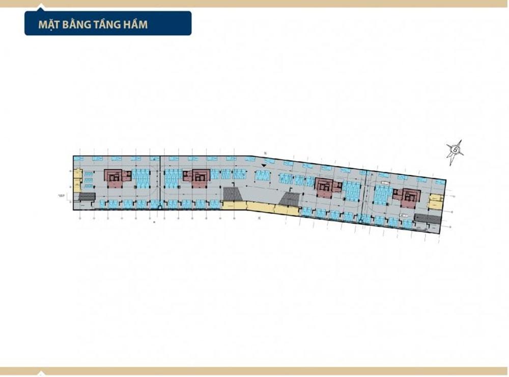 Mặt bằng tầng hầm Condotel Aria Vũng Tàu