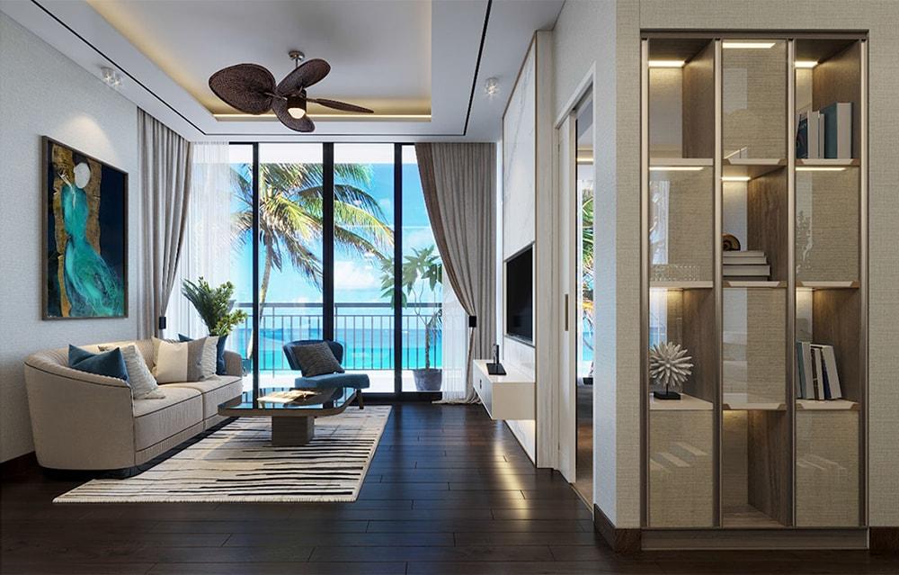 Thiết kế phòng khách căn hộ mẫu tại Aria Vũng Tàu