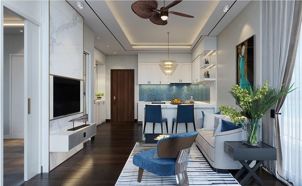 Thiết kế phòng bếp căn hộ mẫu tại Aria Vũng Tàu