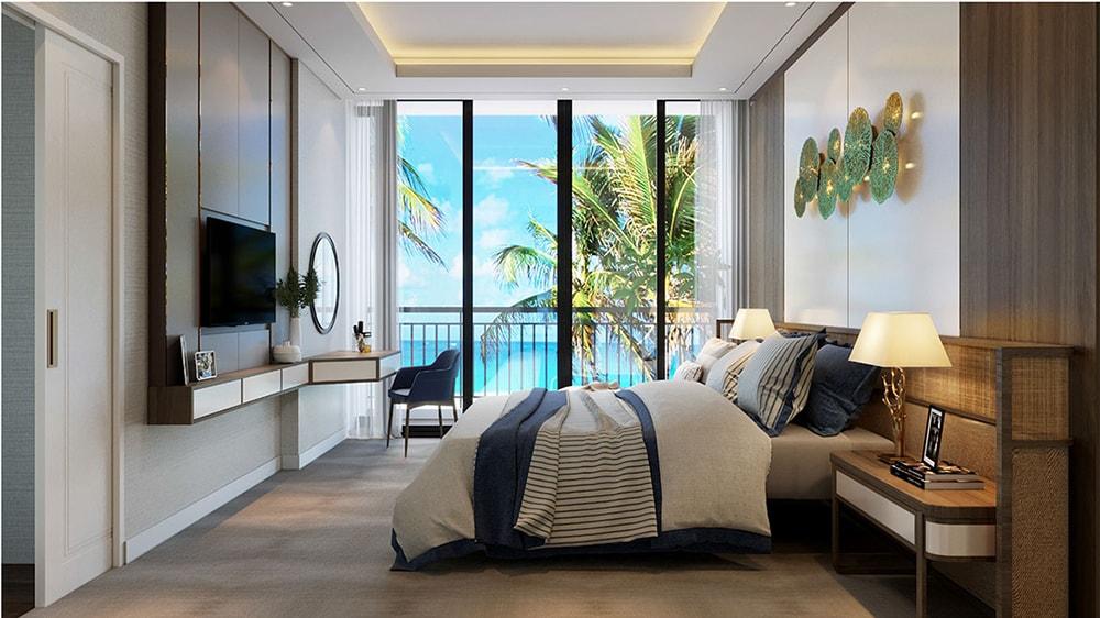 Thiết kế phòng ngủ căn hộ mẫu tại Aria Vũng Tàu