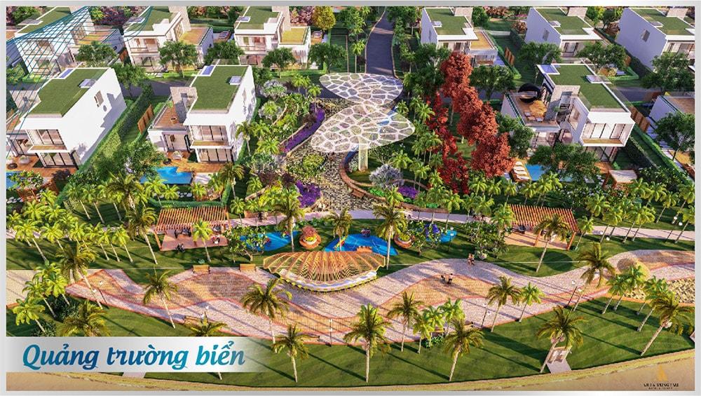 Tiện ích quảng trường biển tại dự án Aria Vũng Tàu