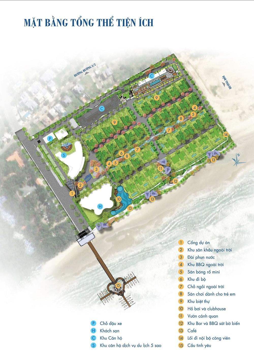 Mặt bằng tổng quan dự án Condotel Aria Vũng Tàu